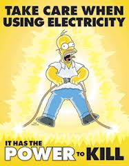 Take care when using electricity